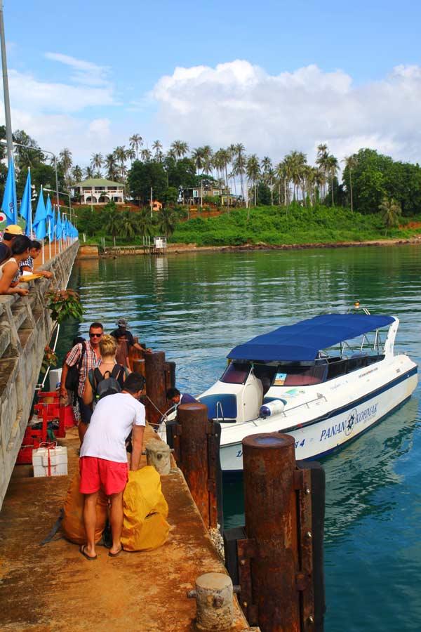Koh Mak transport at the pier