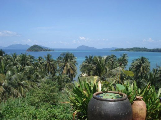 View from Koh Mak towards Koh Chang