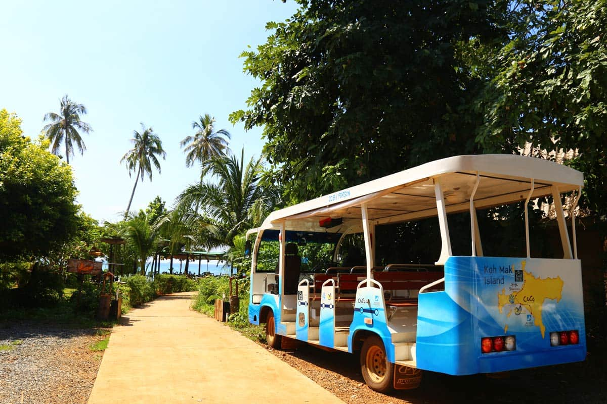 Shuttle bus on Koh Mak island